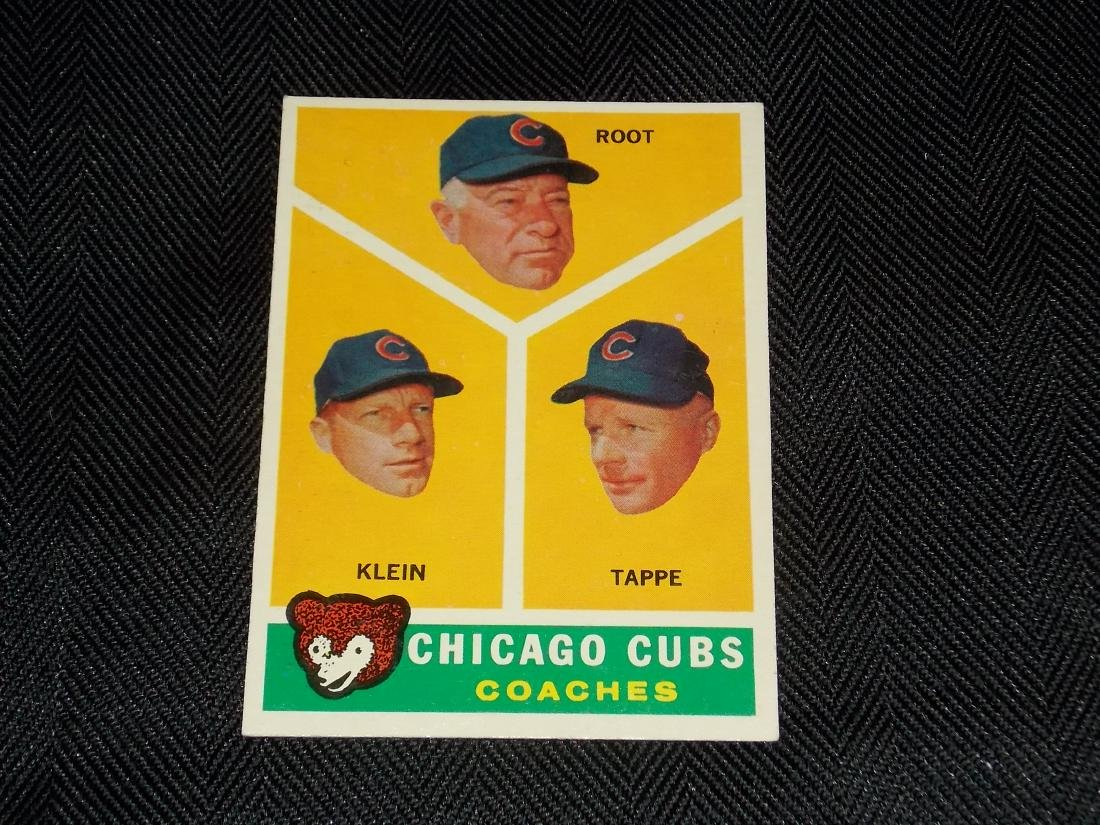 1960 Topps, Coaches, Chicago Cubs, Root, Klein, Tappe