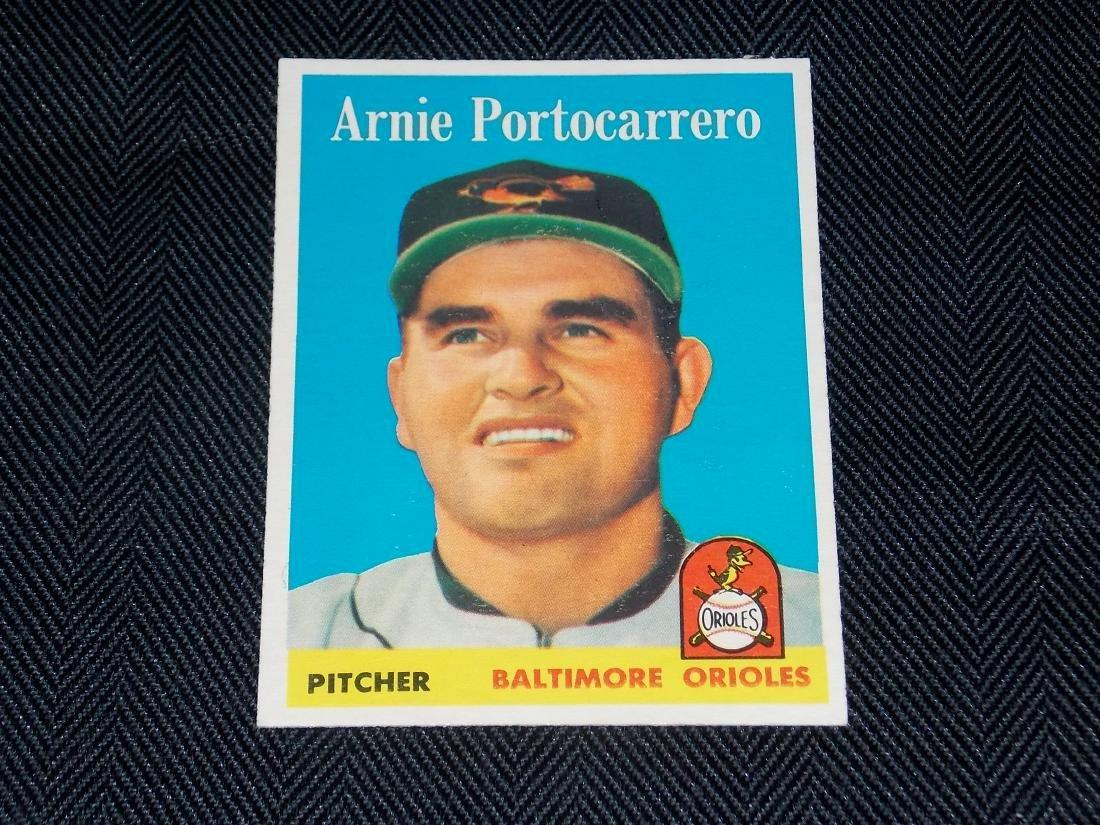 1958 Topps Arnie Portocarrero, Baltimore Orioles