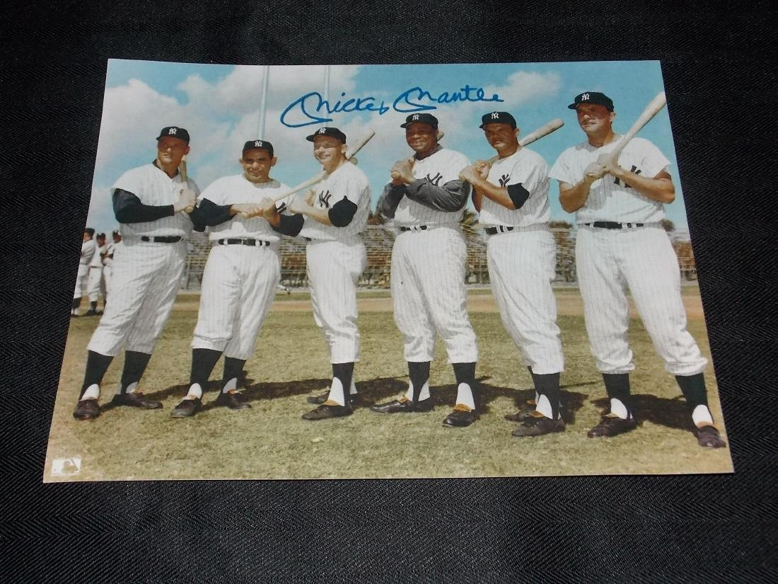 Mickey Mantle, Autographed 8x10 Photo, with Yankees