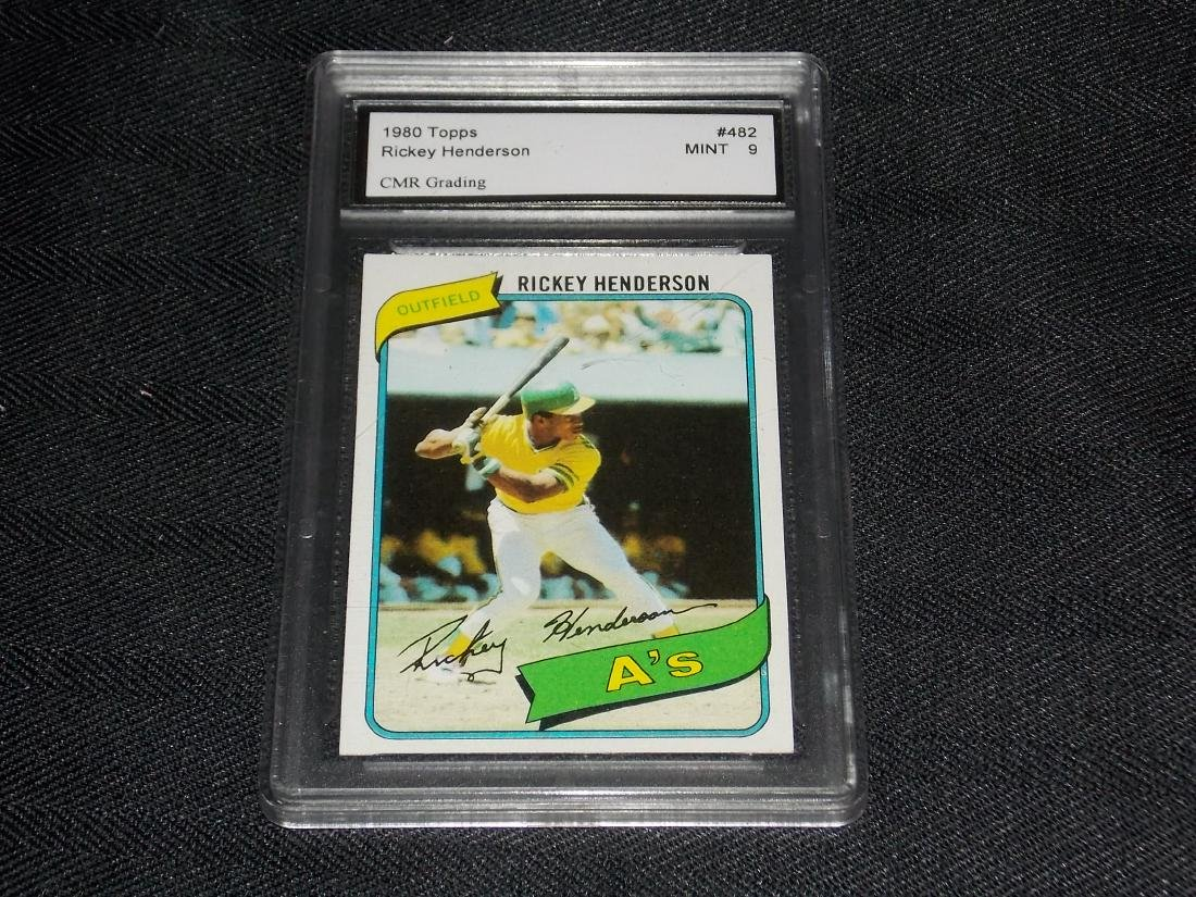 1980 Topps Rickey Henderson, Graded Mint 9