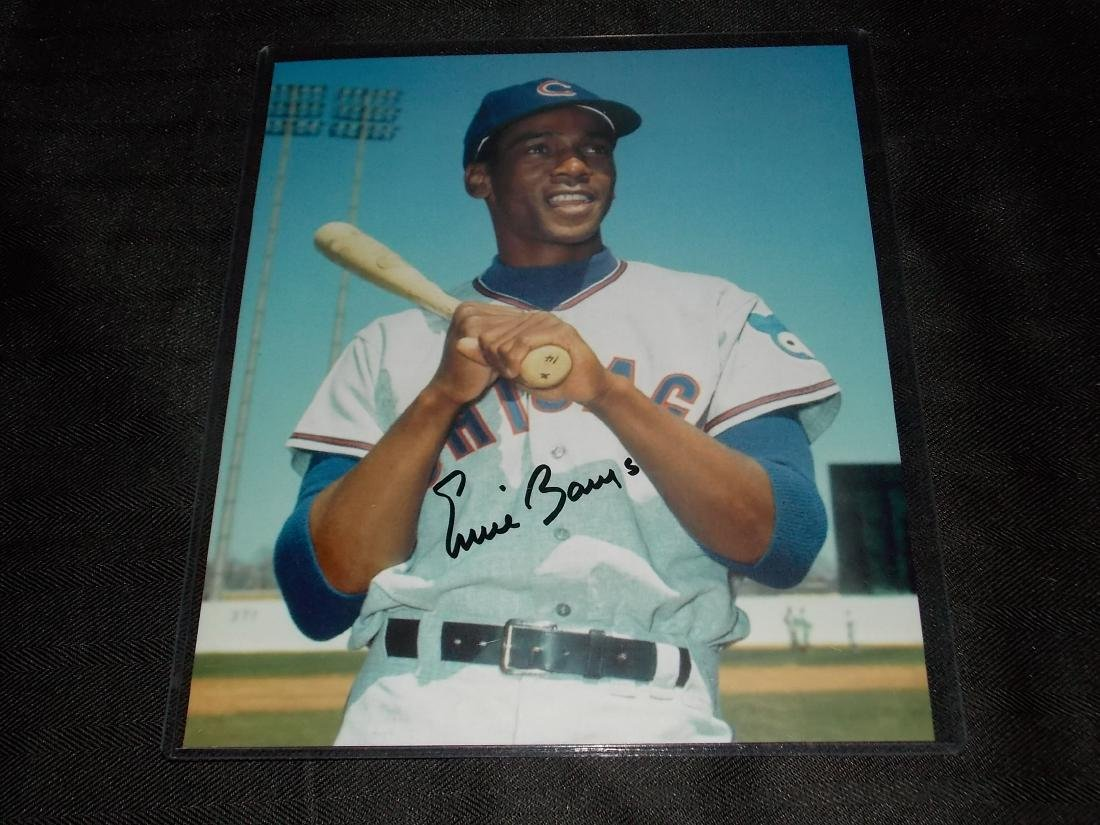 Ernie Banks, Autographed 8x10 Photo, w/COA