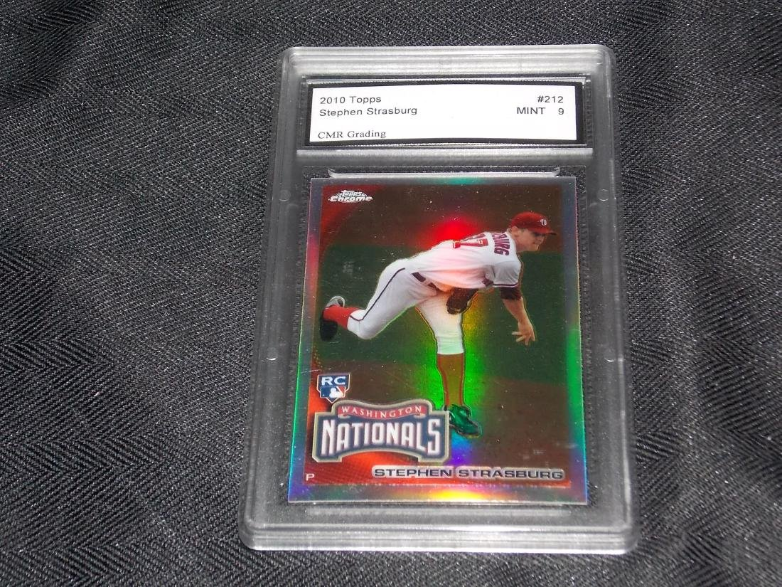 2010 Topps Stephen Strasburg, Graded, MINT 9