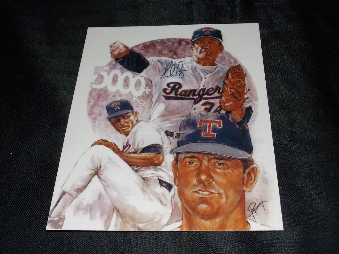 NOLAN RYAN, Autographed 8x10 Photo, w/COA