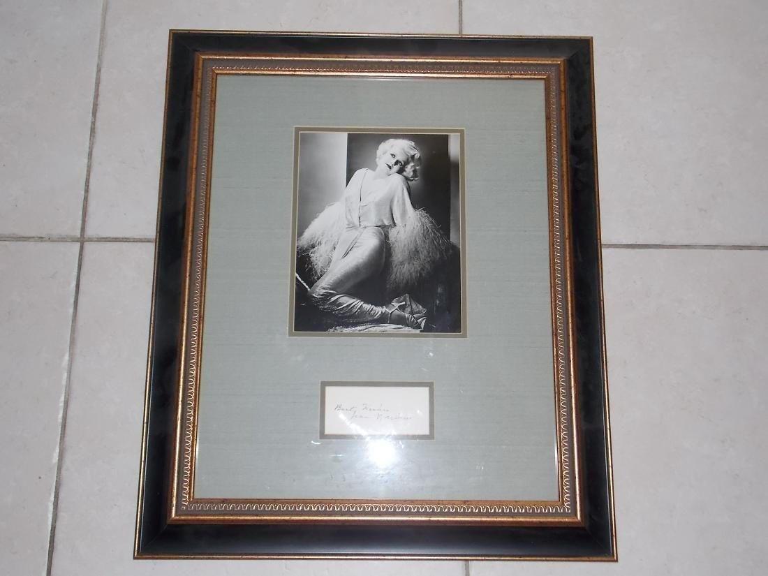 Jean Harlow, Film Actress, Autograph Framed, Photo