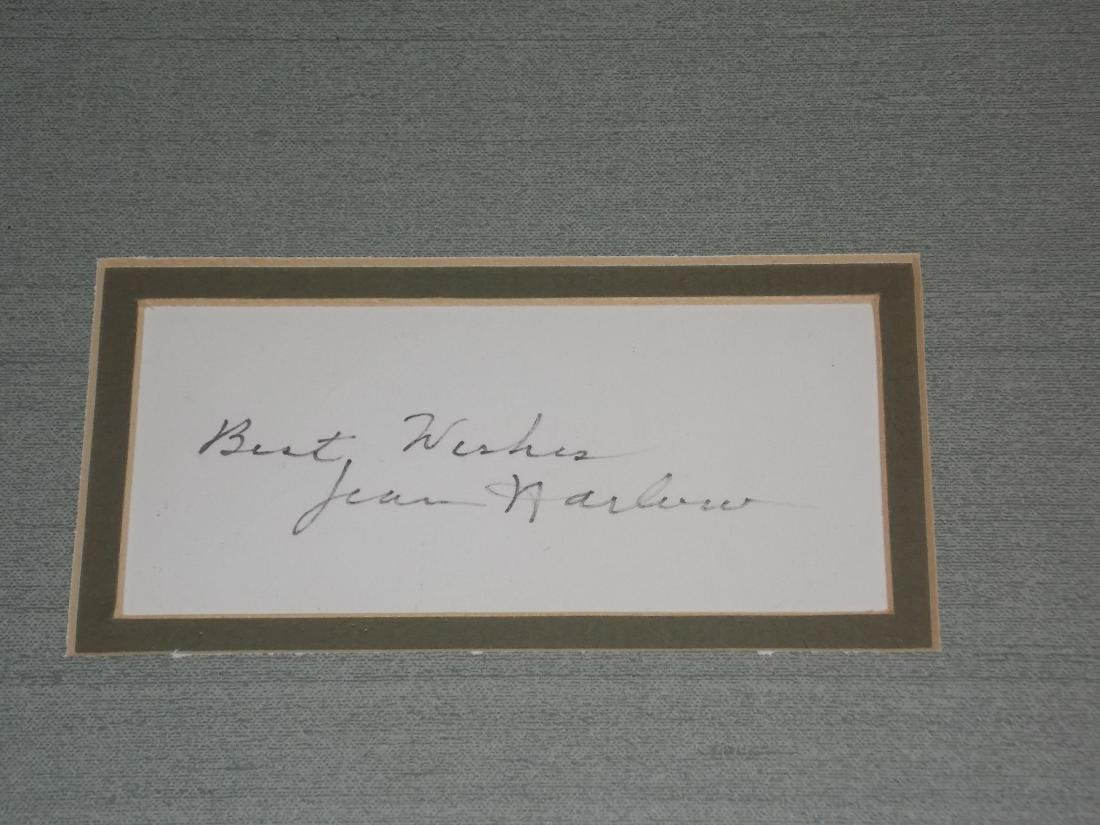 Jean Harlow, Film Actress, Autograph Framed, Photo - 2