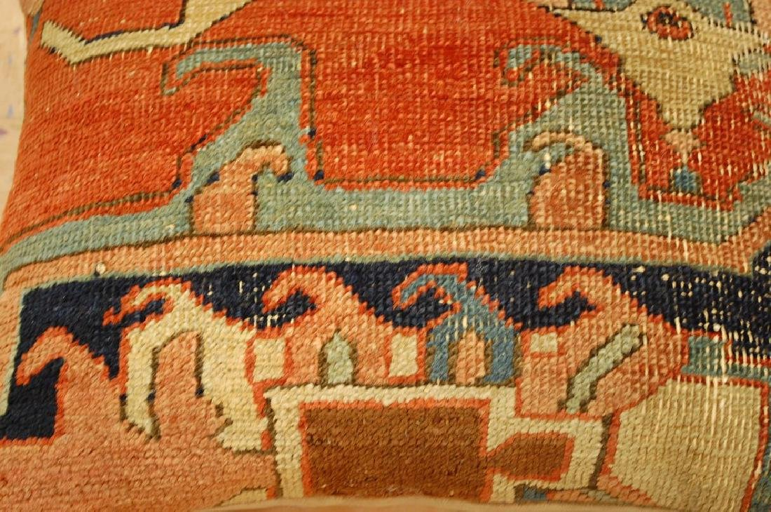 Fine Antique Rug Very Soft Wool Pillow 1.6x1.7 - 2