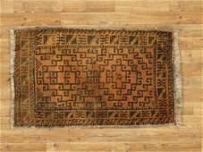 Semi-Antique Afghan Baluch Rug 2.1x3.3