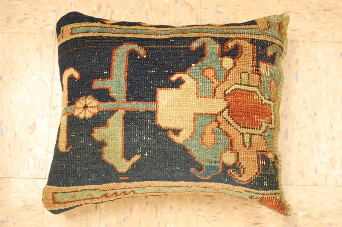 Fine Antique Rug Very Soft Wool Pillow 1.6x1.7