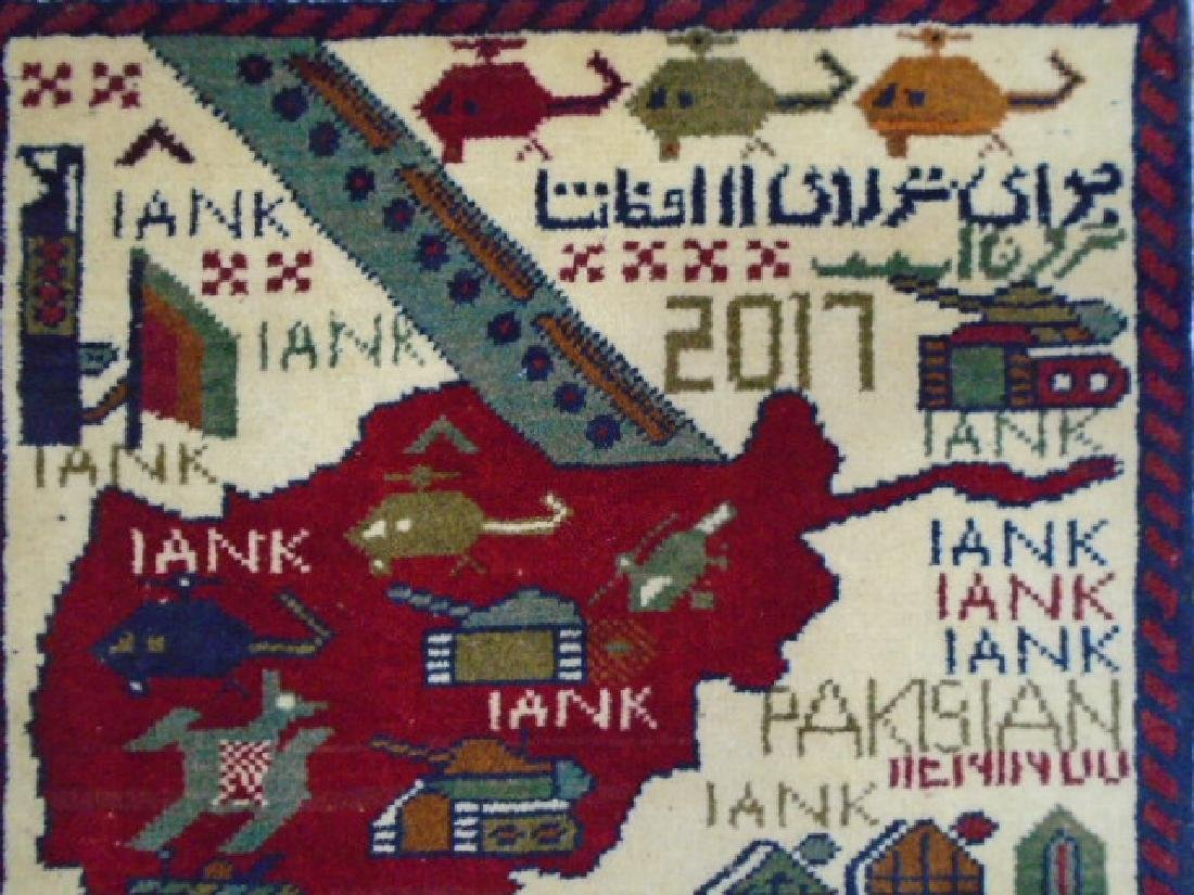 Two Afghan War Rug 2.7x2 / 2.5x1.11 - 3