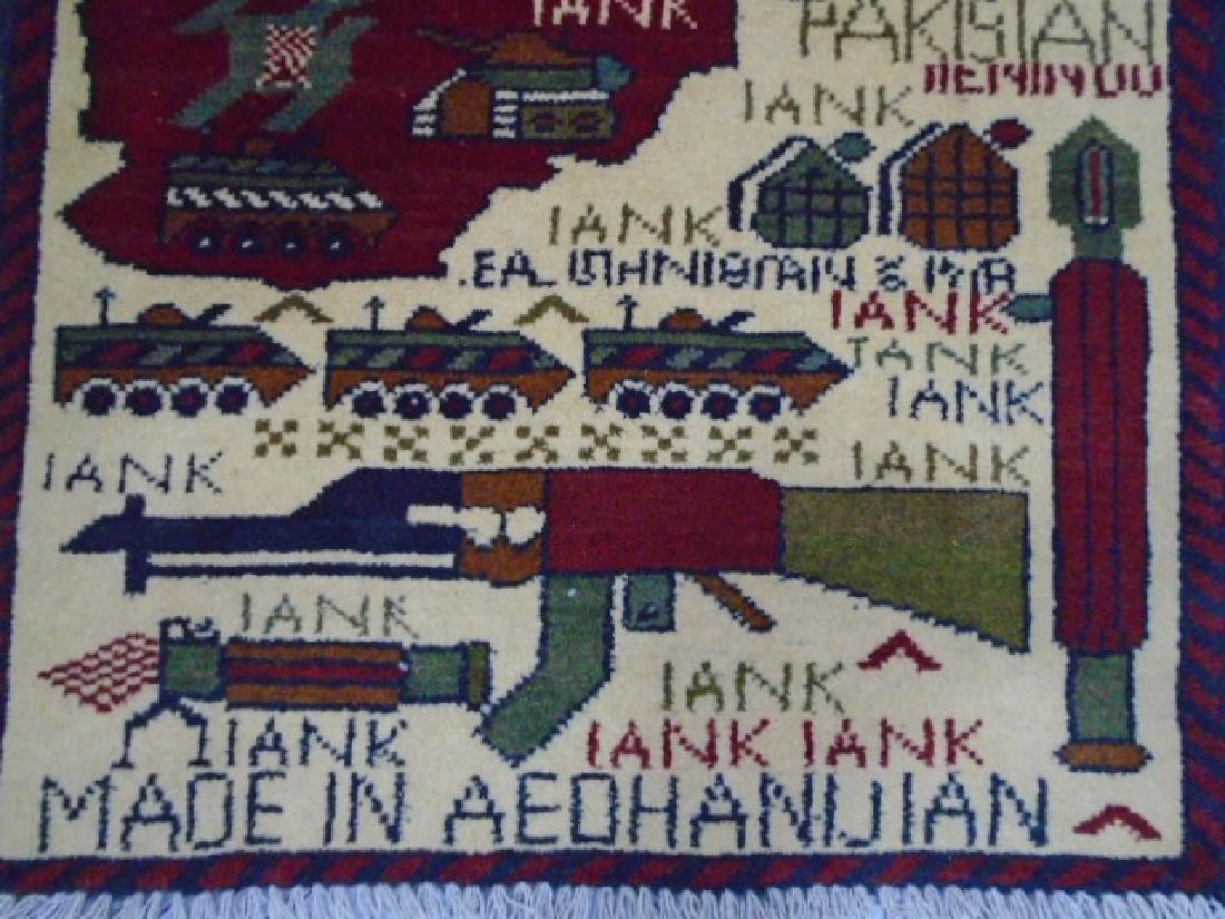 Two Afghan War Rug 2.7x2 / 2.5x1.11 - 4