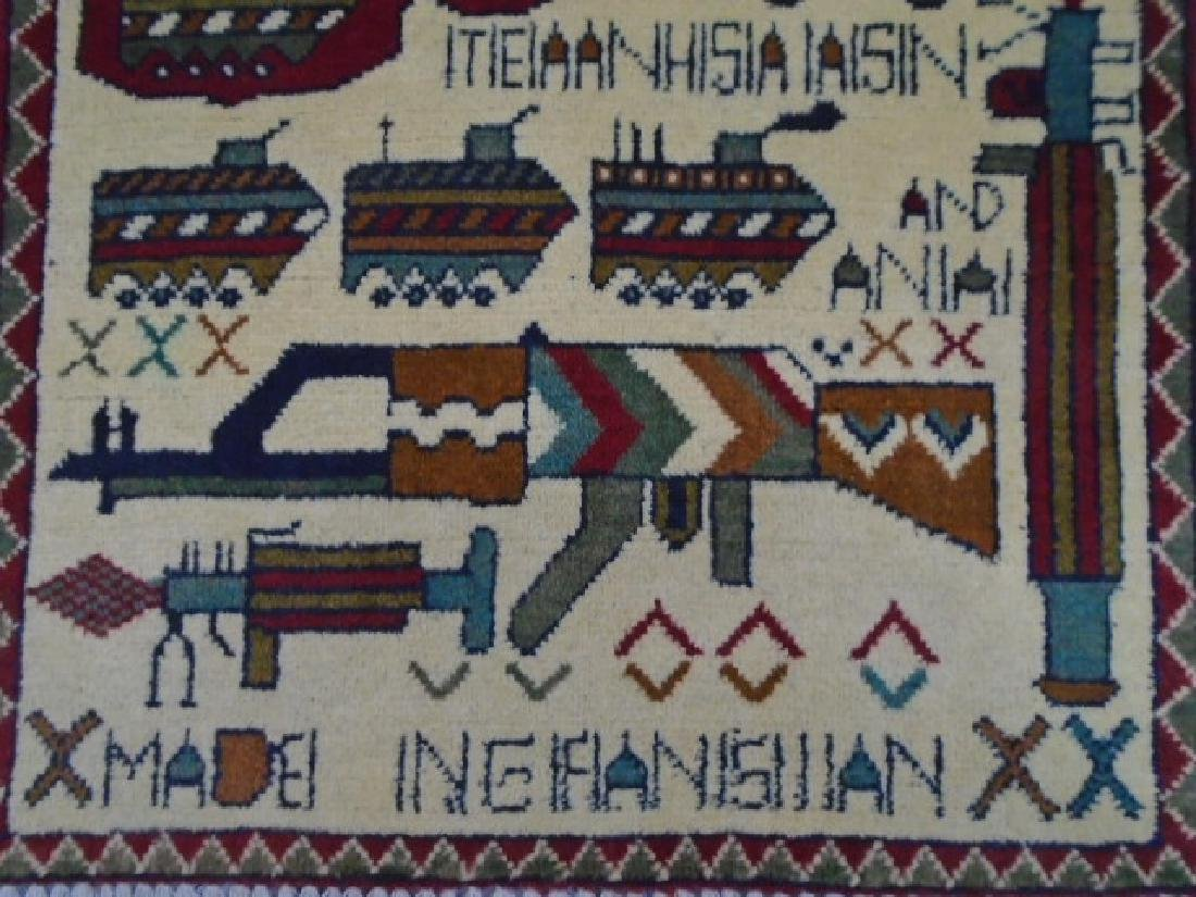 Two Afghan War Rug 2.7x2 / 2.5x1.11 - 7