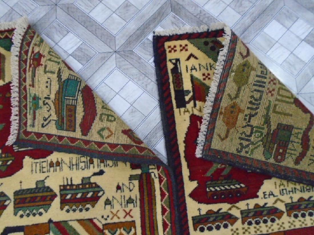 Two Afghan War Rug 2.7x2 / 2.5x1.11 - 8