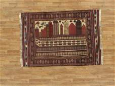 Semi-Antique Afghan Baluch Rug 4.2x5.10