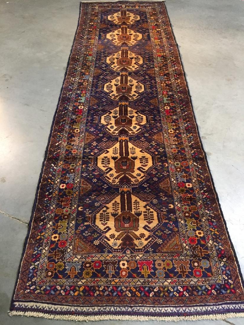Tribal Persian Runner Rug 3x9.9