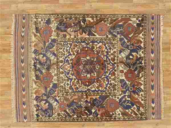 Semi-Antique Afghan Baluch Rug 4.9x6.6