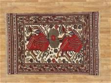 Semi-Antique Afghan Baluch Rug 4.2x6.2