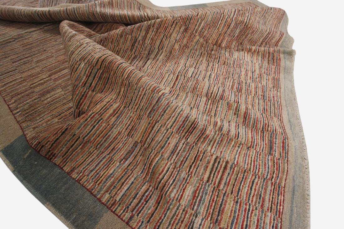 Vintage Persian Gabbeh Rug Hand knotted 6.1x9.8 - 4