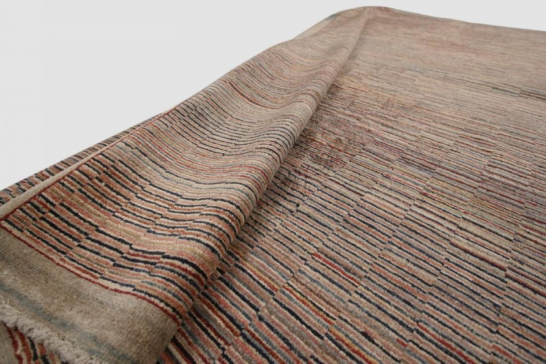 Vintage Persian Gabbeh Rug Hand knotted 6.1x9.8 - 7