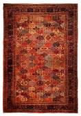Exquisite Rare Persian Antique Garden Rug 14.6x21.8