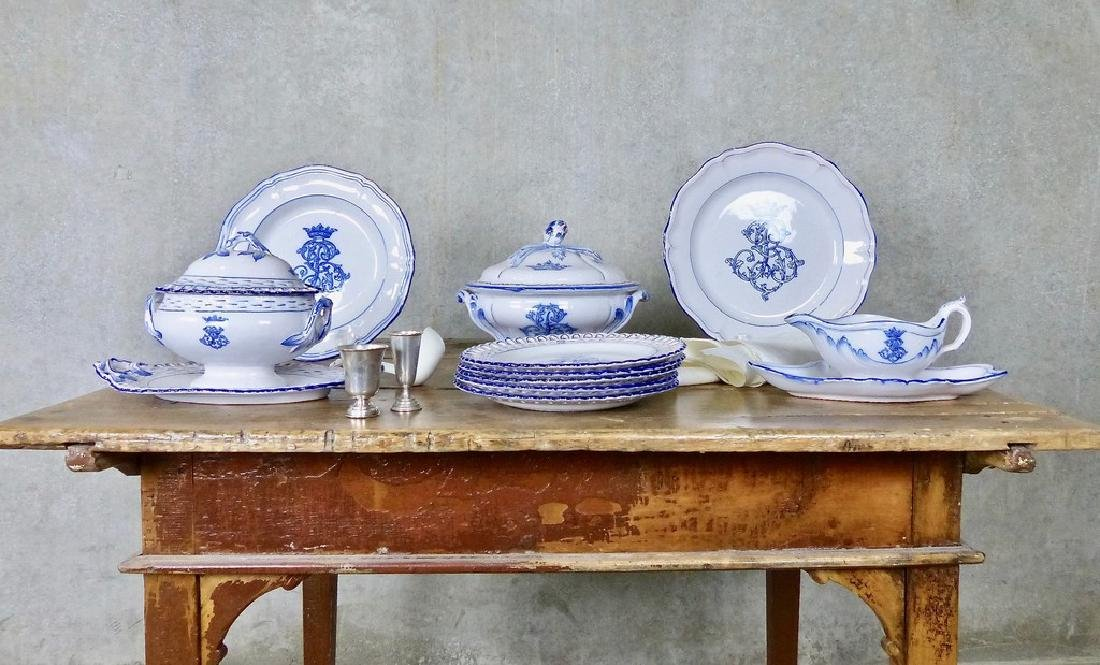 49 pieces Emile Galle Dinnerware Circa 1870