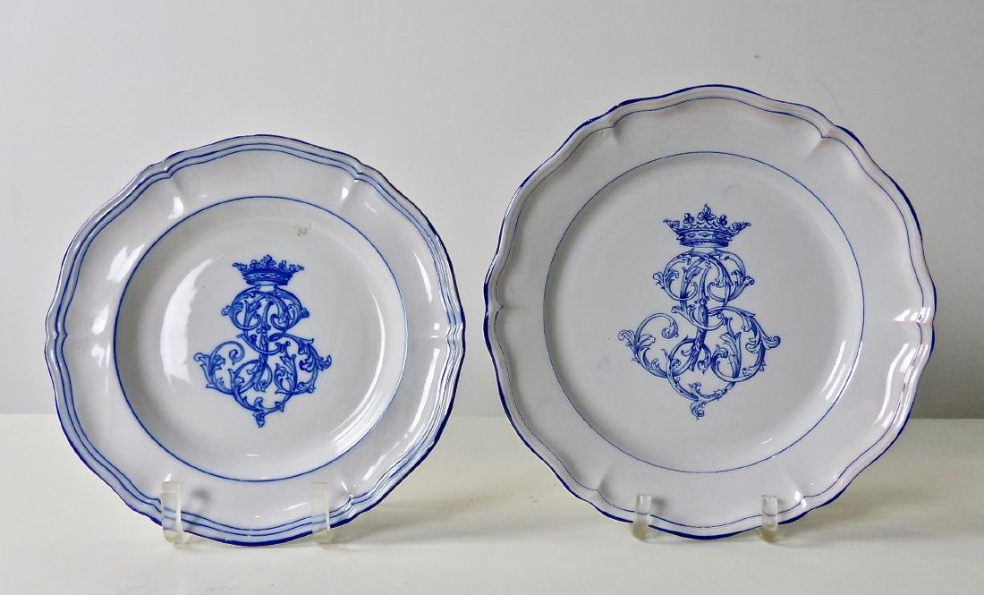 49 pieces Emile Galle Dinnerware Circa 1870 - 4