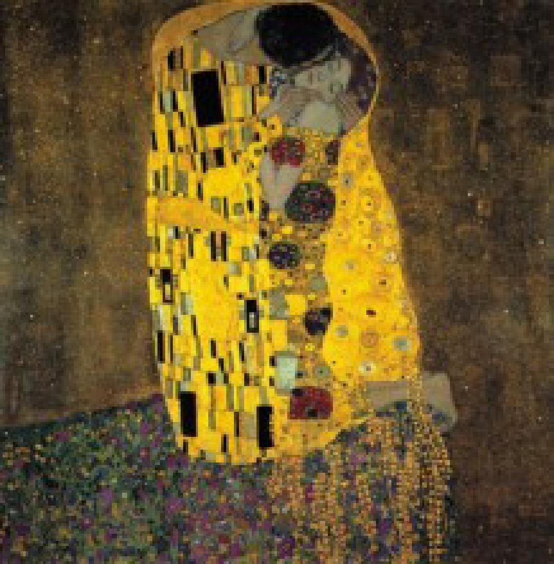 After Gustav Klimt: The Kiss statue - 4