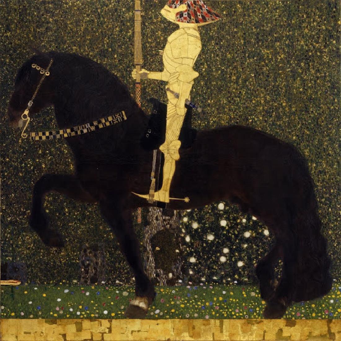After Gustav Klimt: Life is a struggle statue - 5