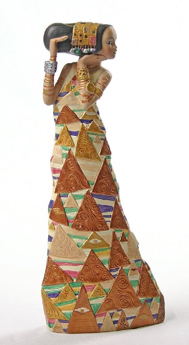 After Gustav Klimt: The Expectation statue