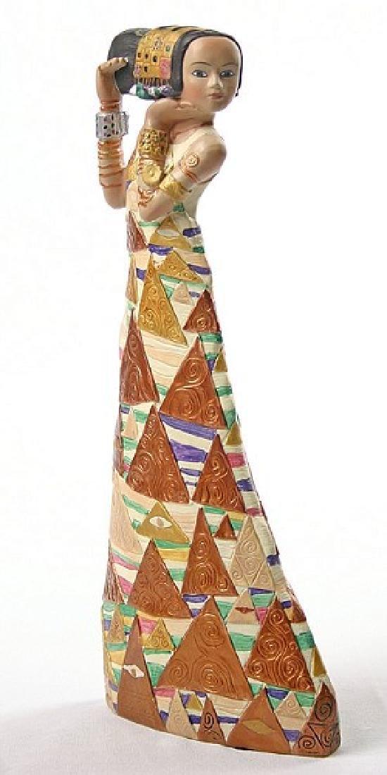 After Gustav Klimt: The Expectation statue - 3
