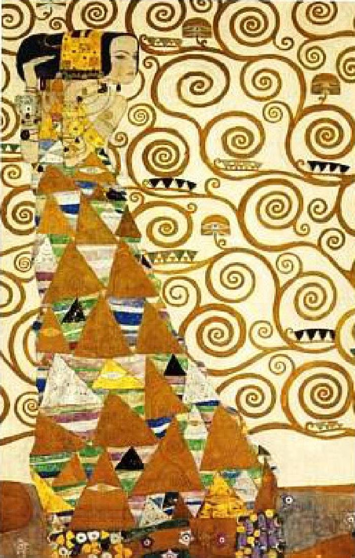 After Gustav Klimt: The Expectation statue - 4