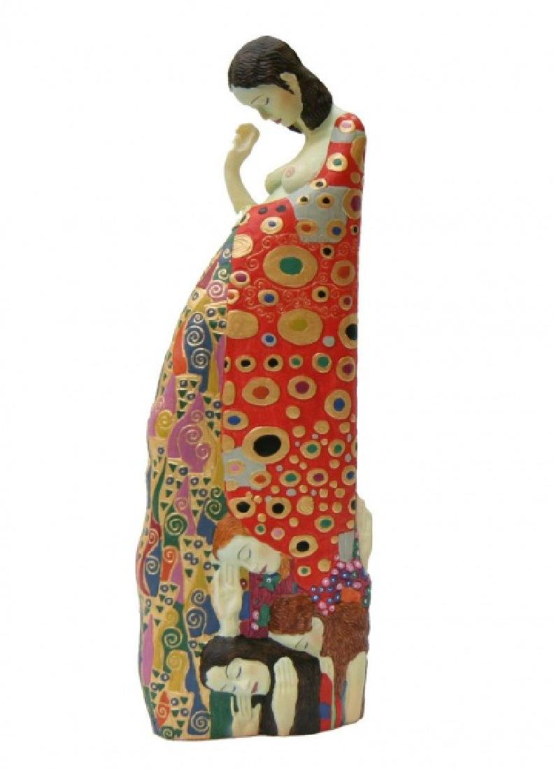 After Gustav Klimt: Hope statue