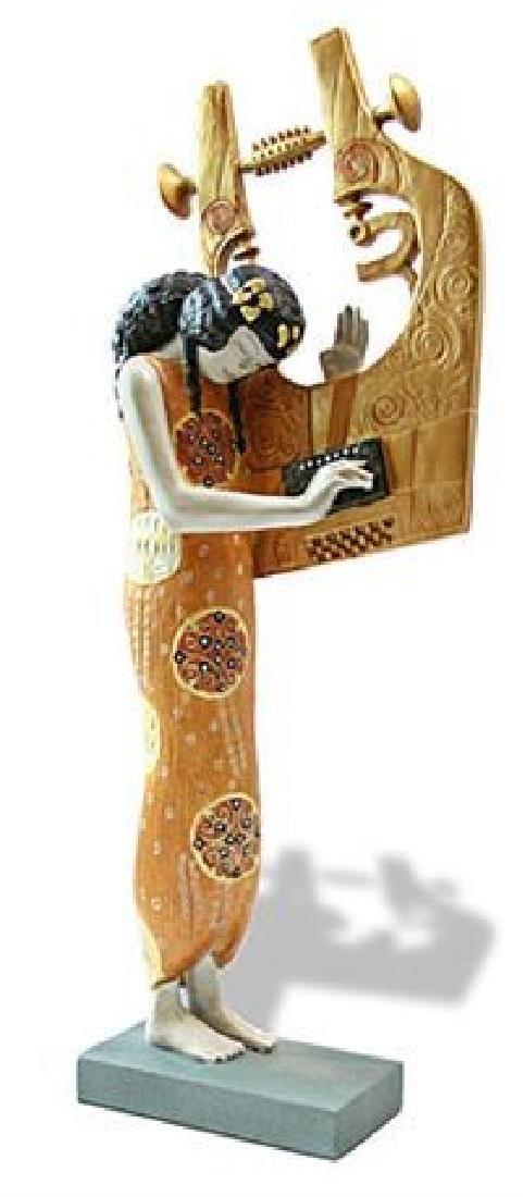 After Gustav Klimt: Poetry statue