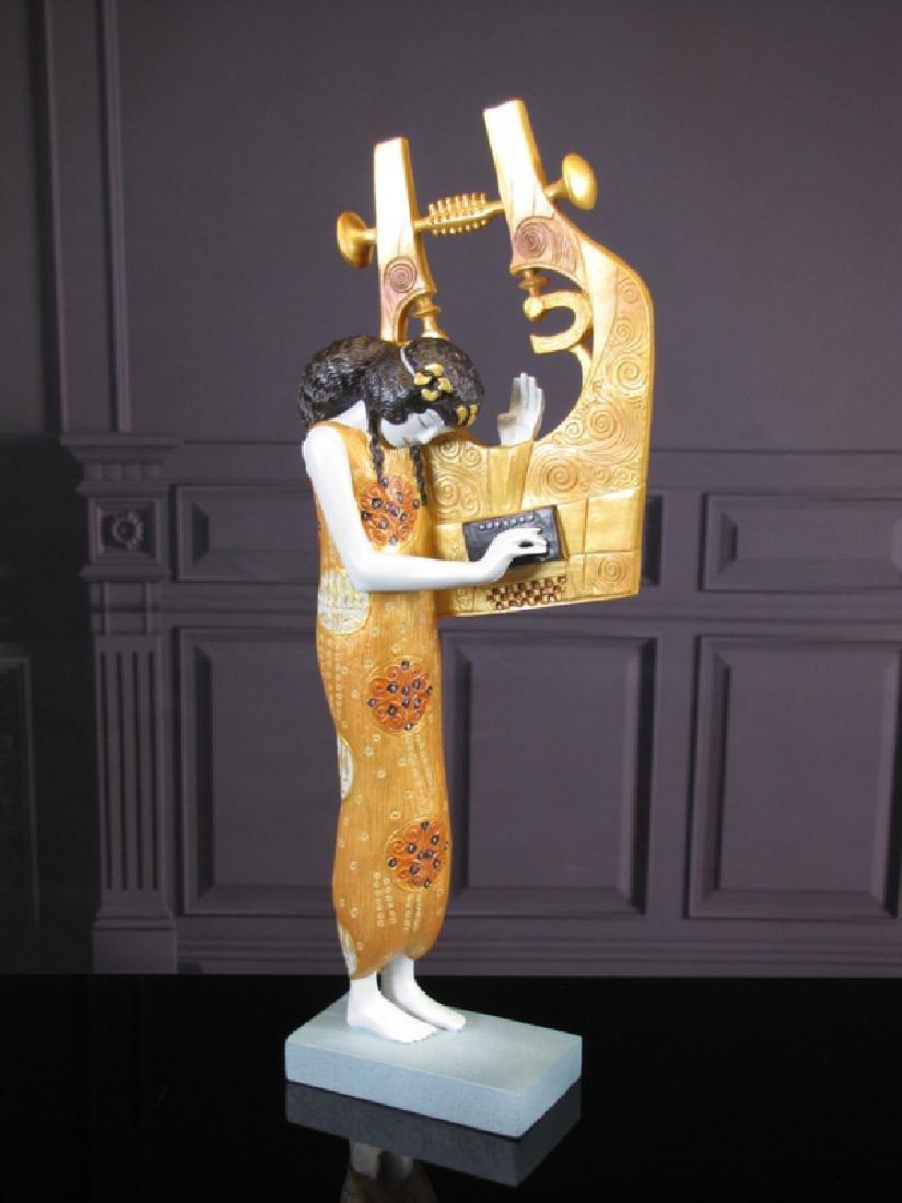 After Gustav Klimt: Poetry statue - 2