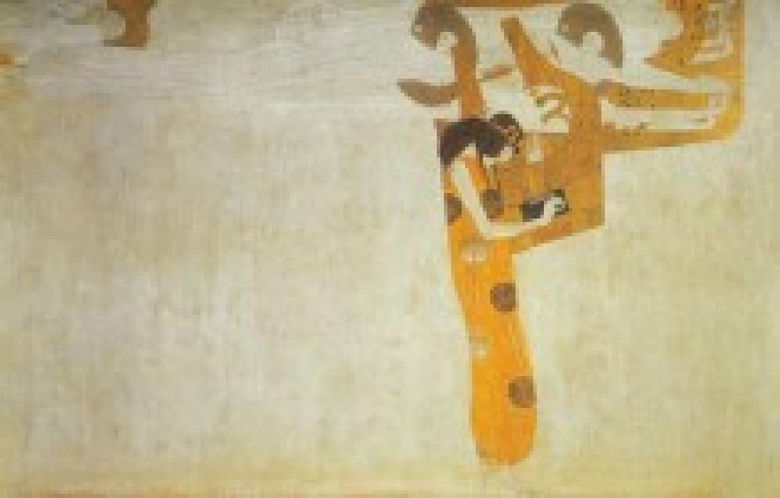 After Gustav Klimt: Poetry statue - 5