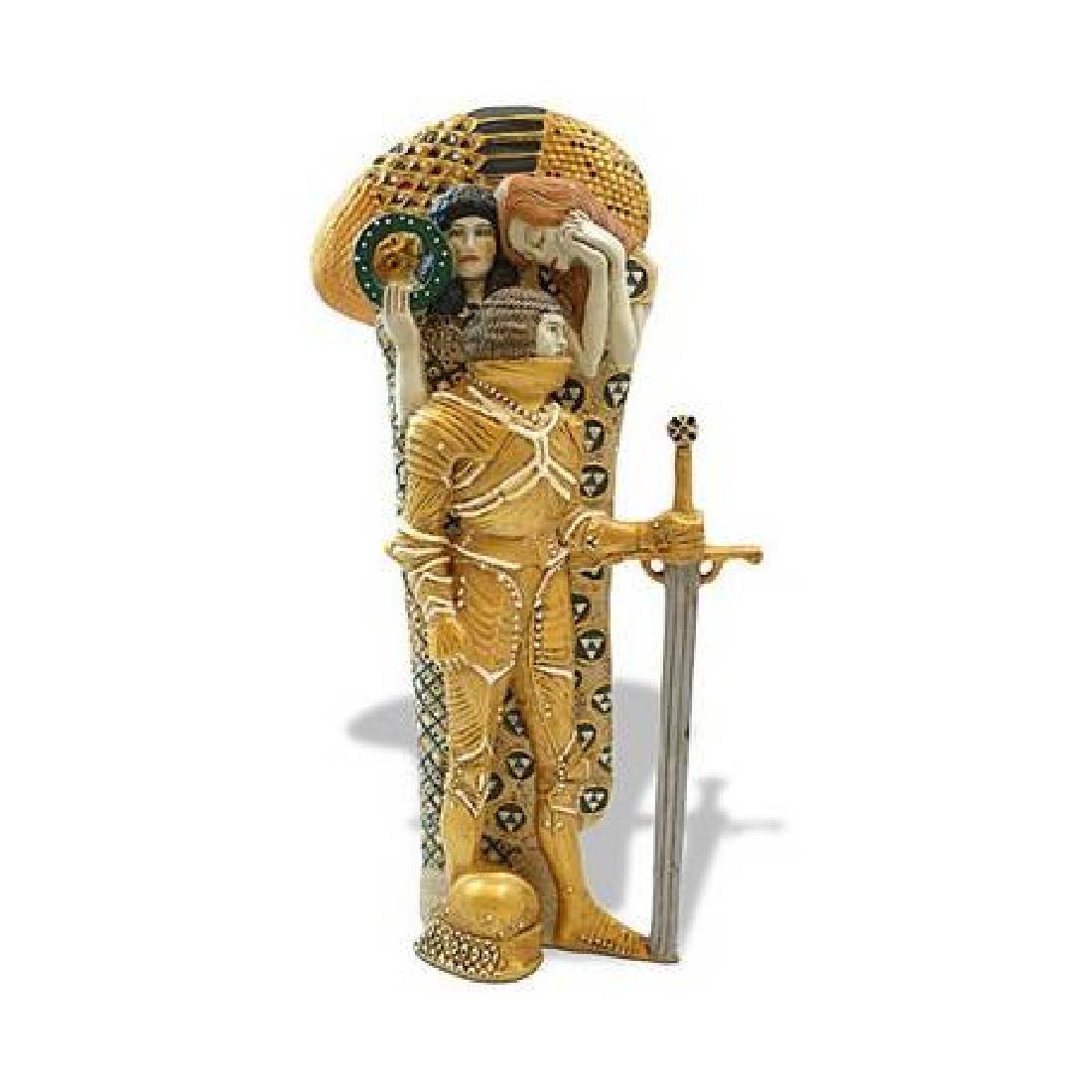 After Gustav Klimt: The Knight statue