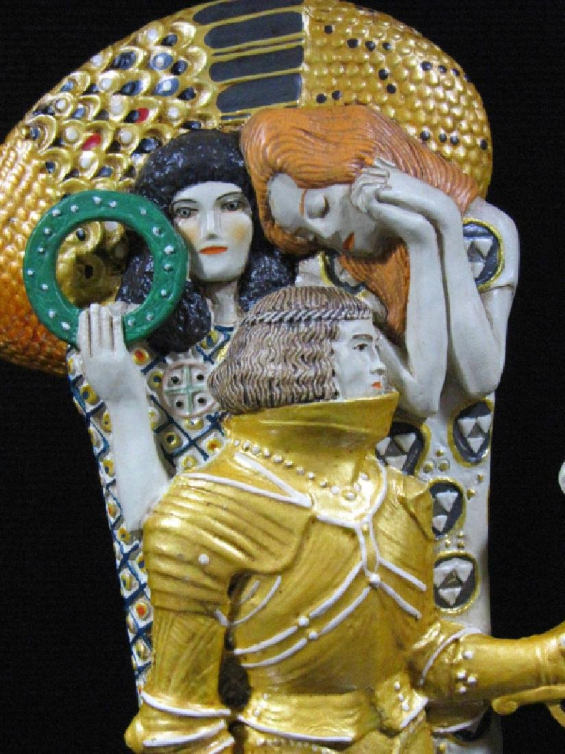 After Gustav Klimt: The Knight statue - 3