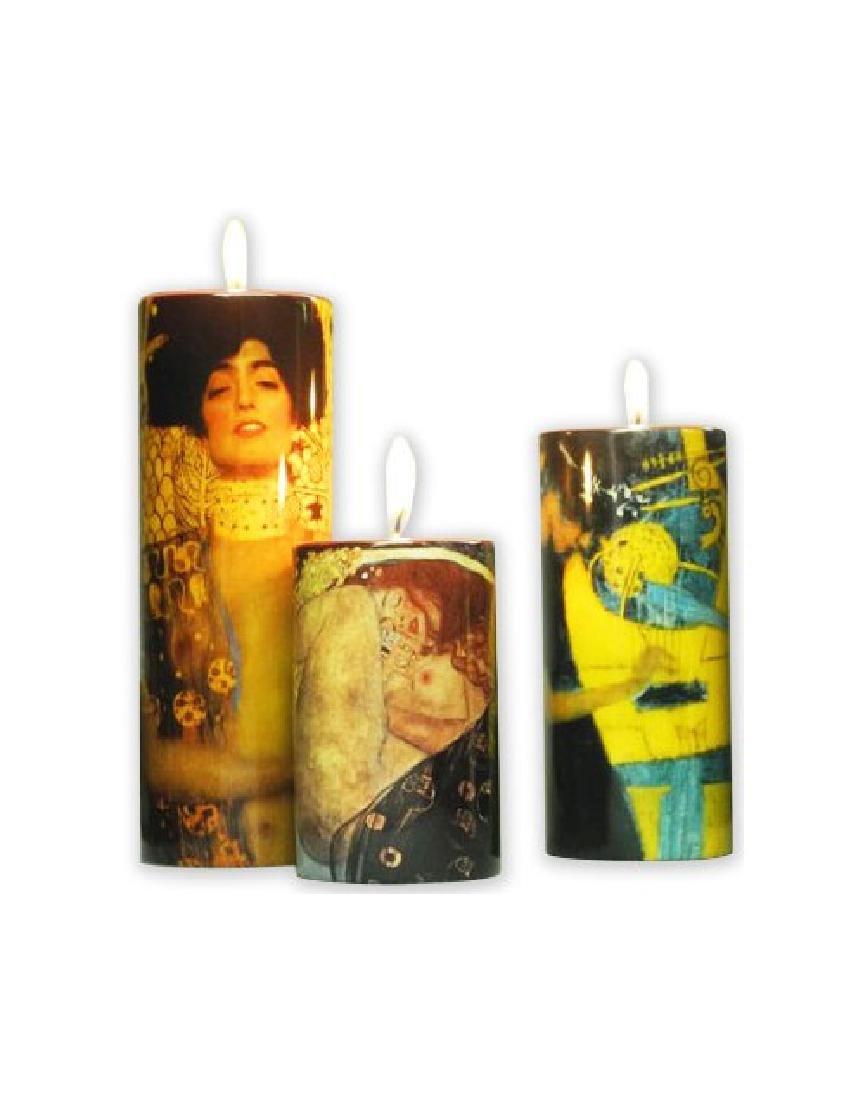 After Gustav Klimt: Candleholder Set of 3