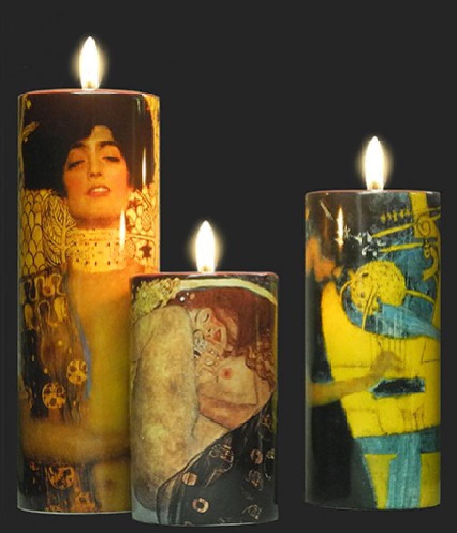 After Gustav Klimt: Candleholder Set of 3 - 2