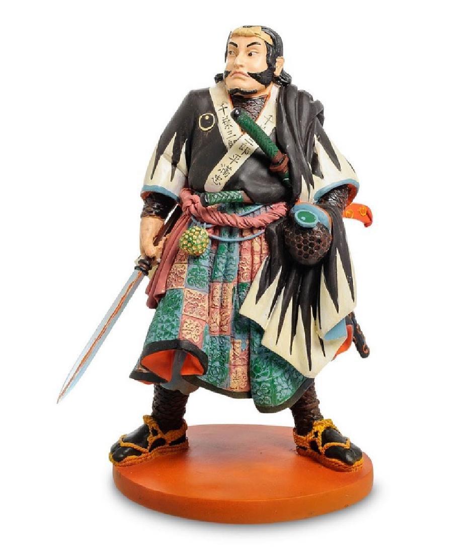 Art Japonais Chiba Sabrohei Warrior Statue