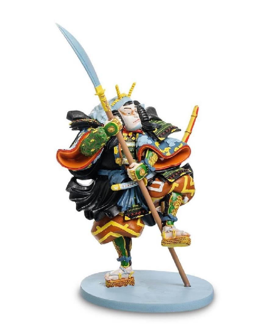 Art Japonais Ichikawa Kodanji Warrior Statue