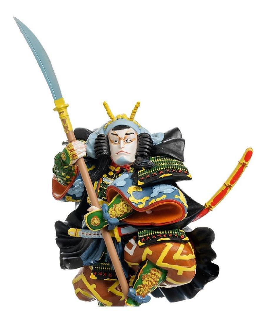 Art Japonais Ichikawa Kodanji Warrior Statue - 3