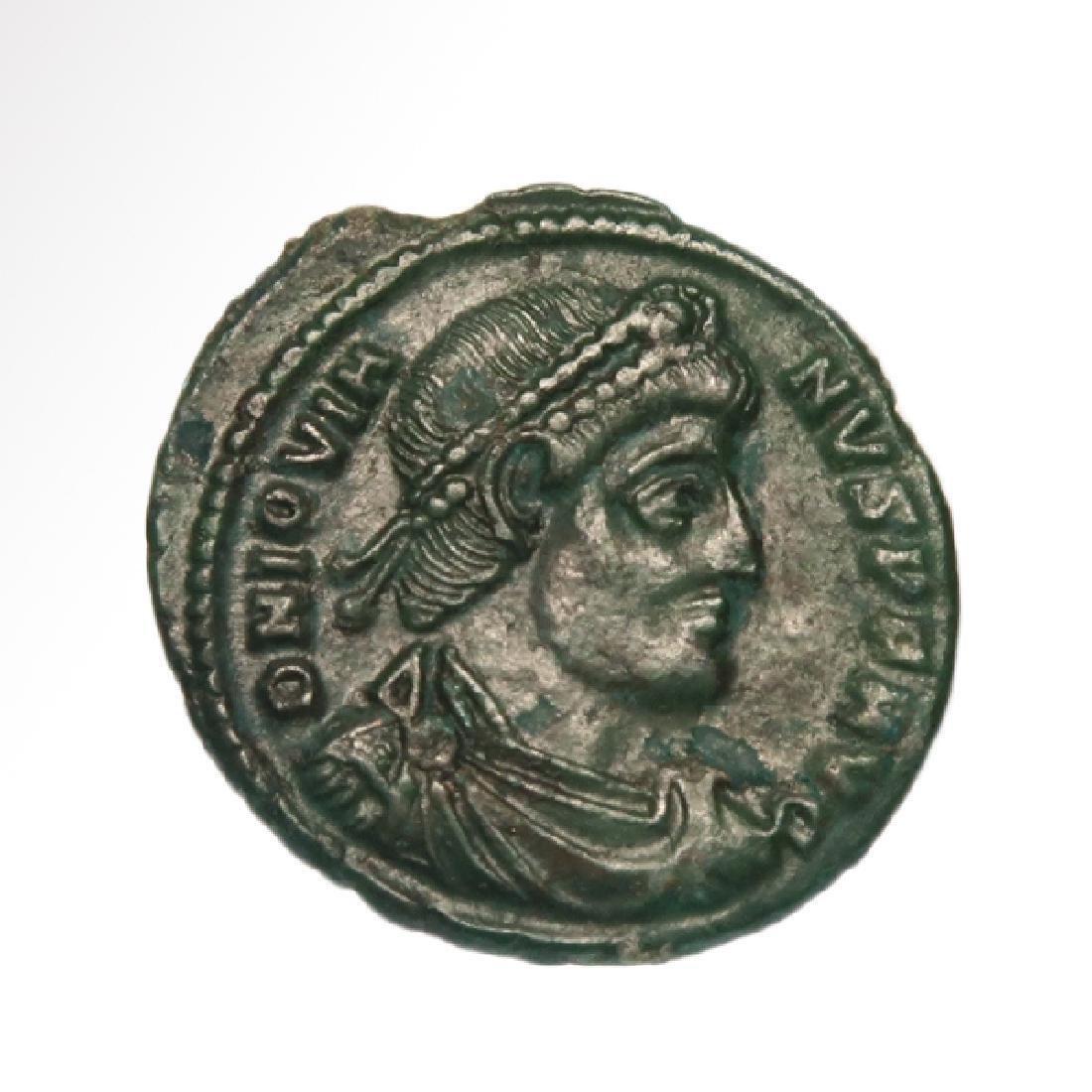Rare Roman Bronze Coin, Jovian, c. 364-375 A.D.