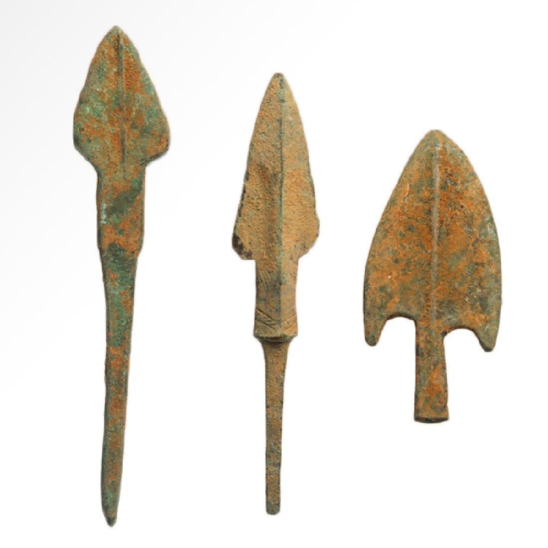 Three Roman Bronze Arrow-heads, c. 100-200 A.D .