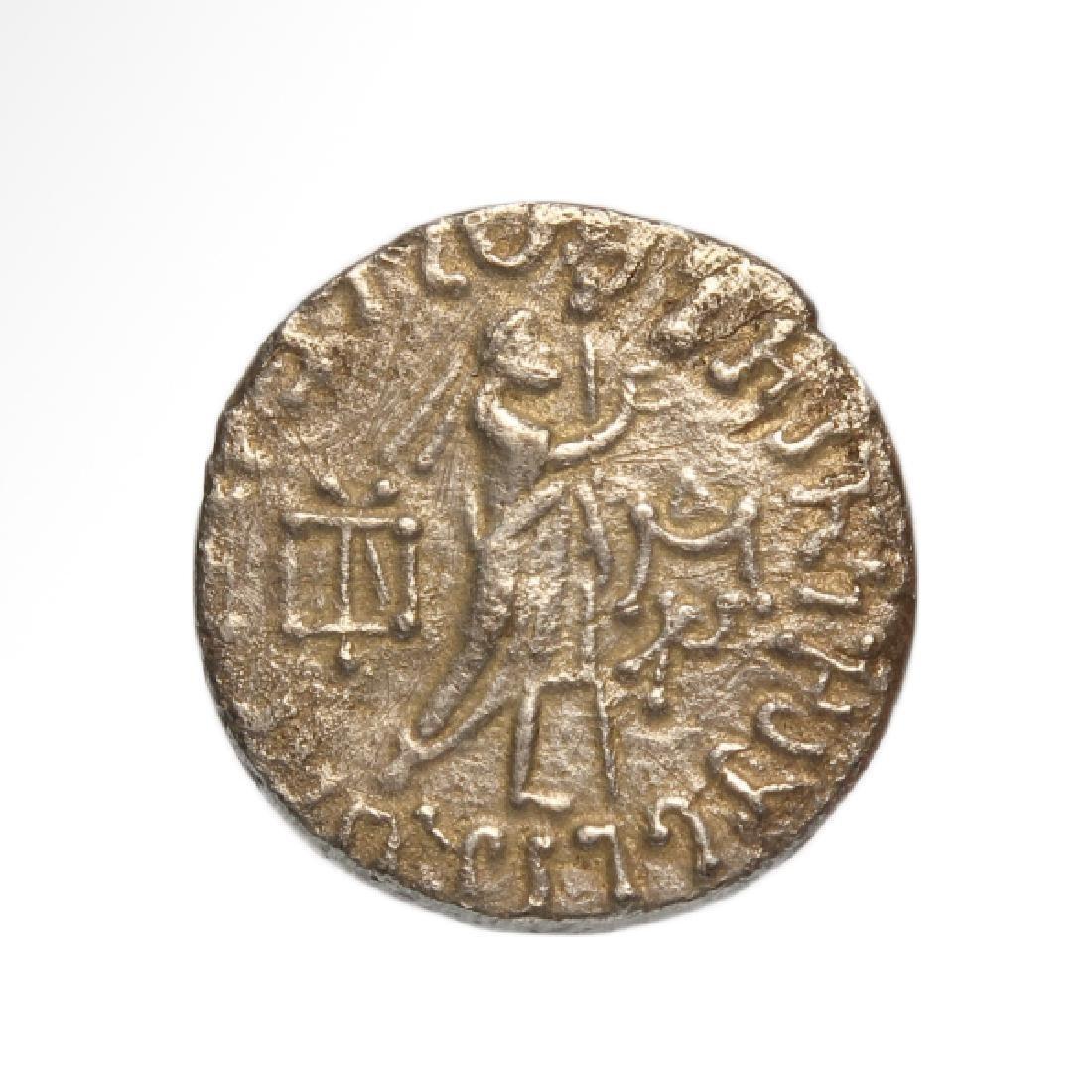 Silver Bactrian Greek Tetradrachm King Azes I 58-20 BC - 2