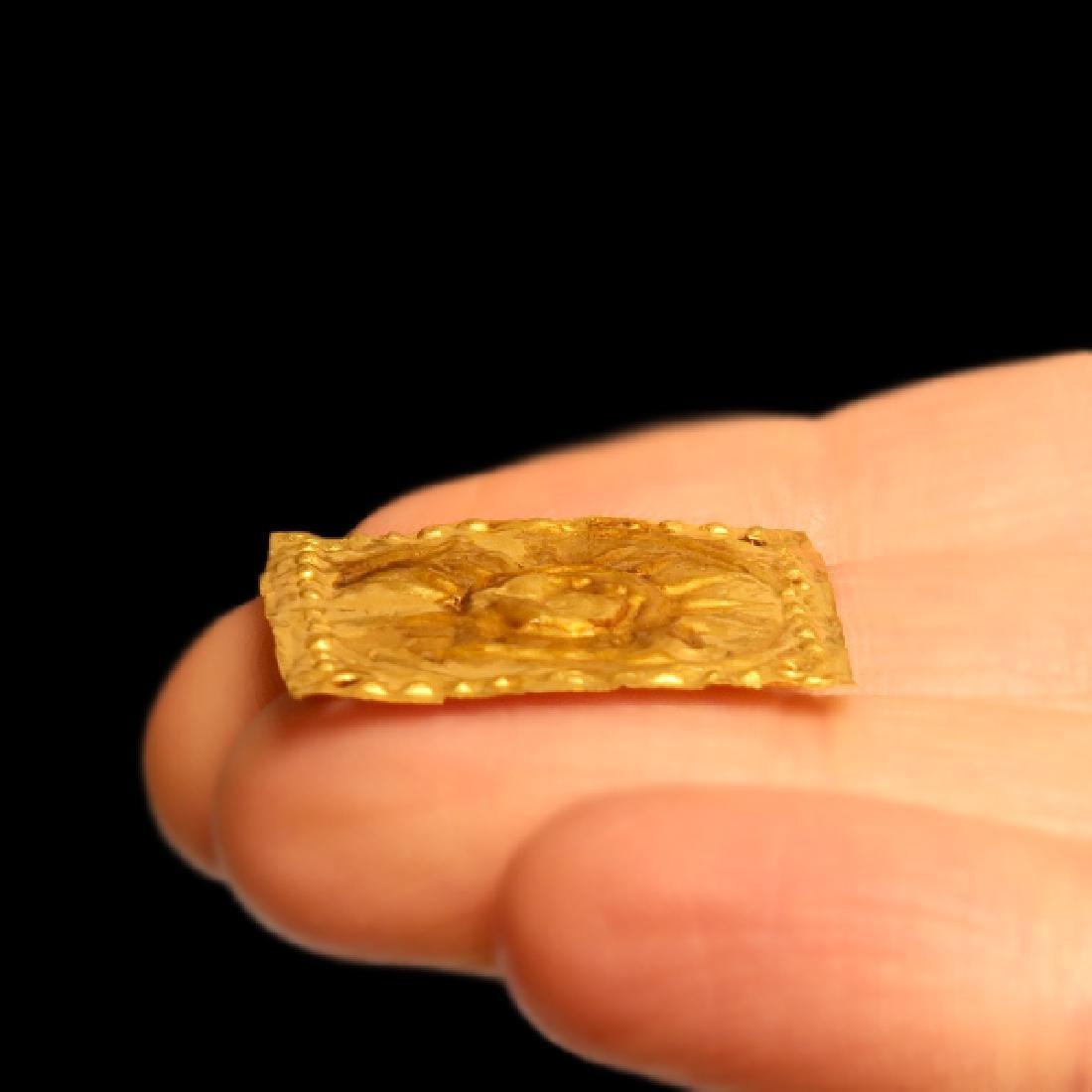 Greek Gold Ornament Plaque Helios Horses 5th C BC - 3