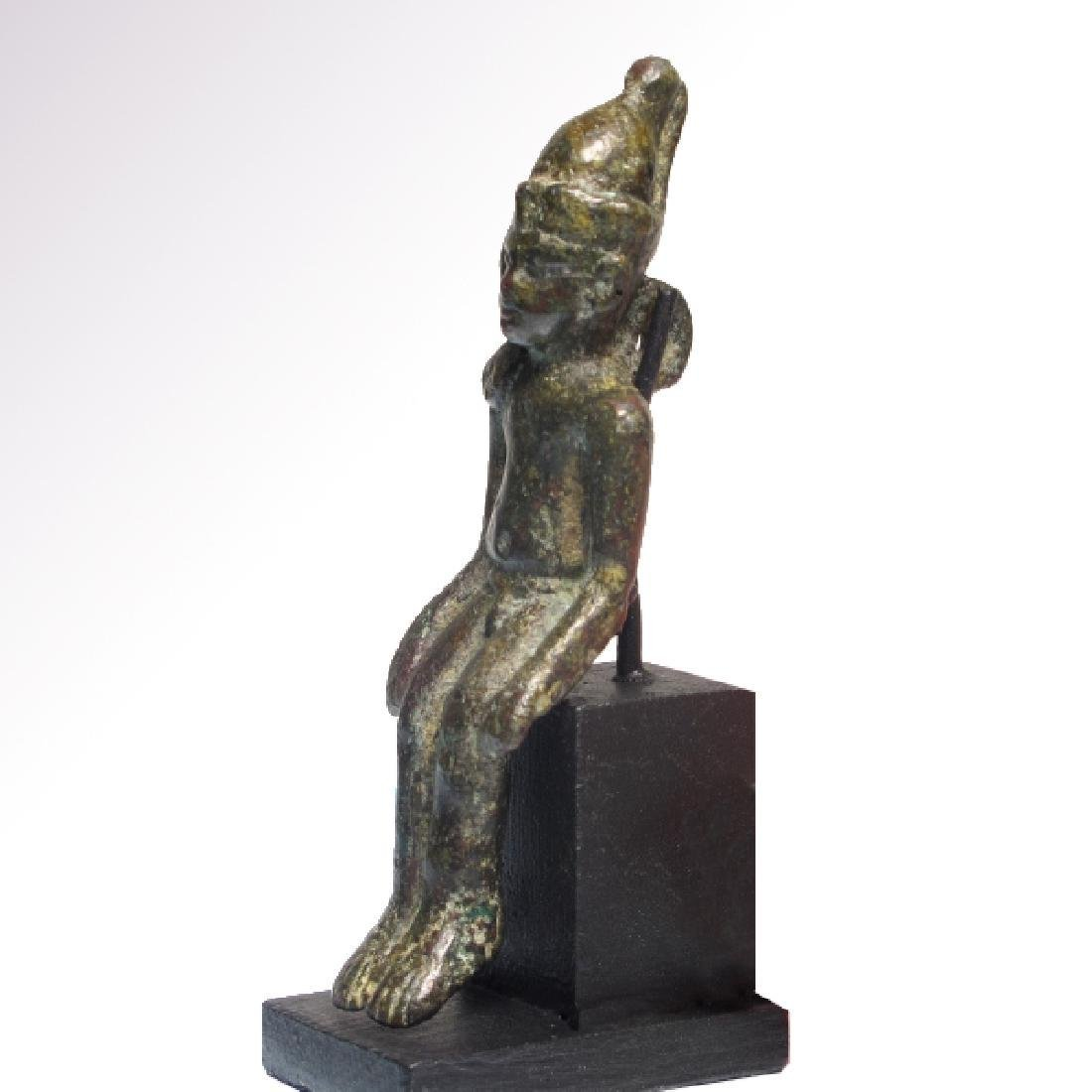 Egyptian Bronze Figure of Harpocrates Ptolemaic Period - 4