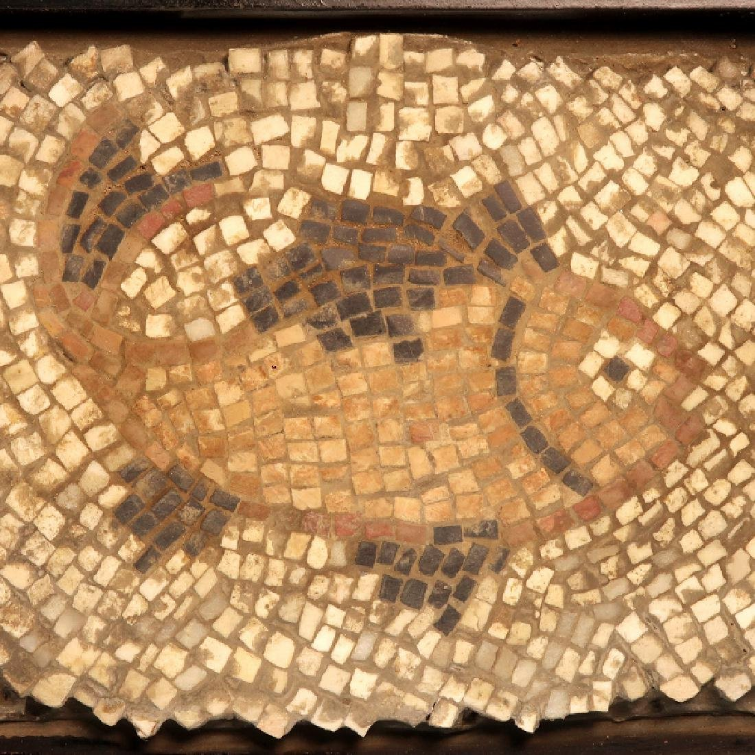 Roman Mosaic Panel with Fish, c. 4th-6th Century A.D.