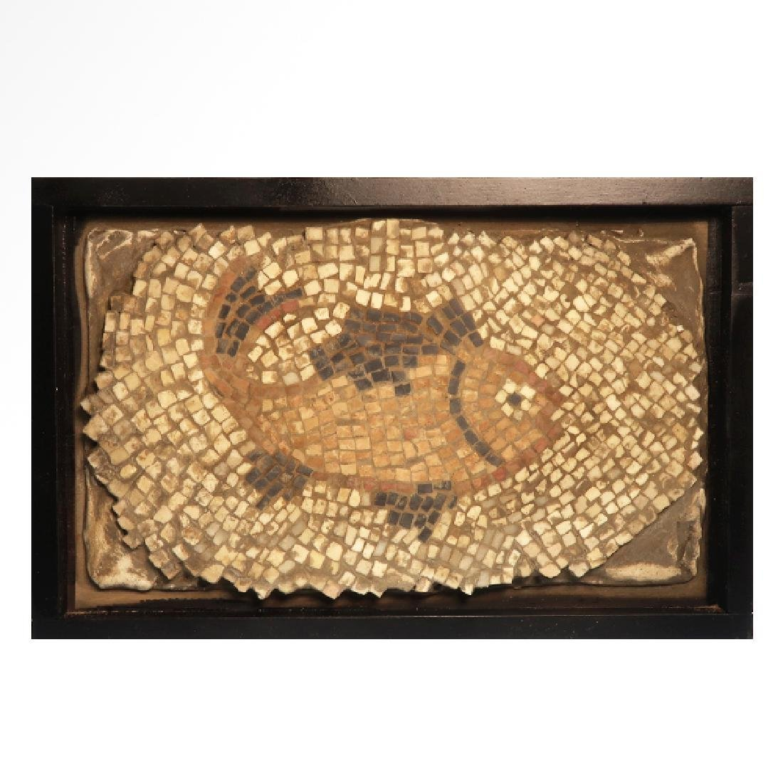 Roman Mosaic Panel with Fish, c. 4th-6th Century A.D. - 2