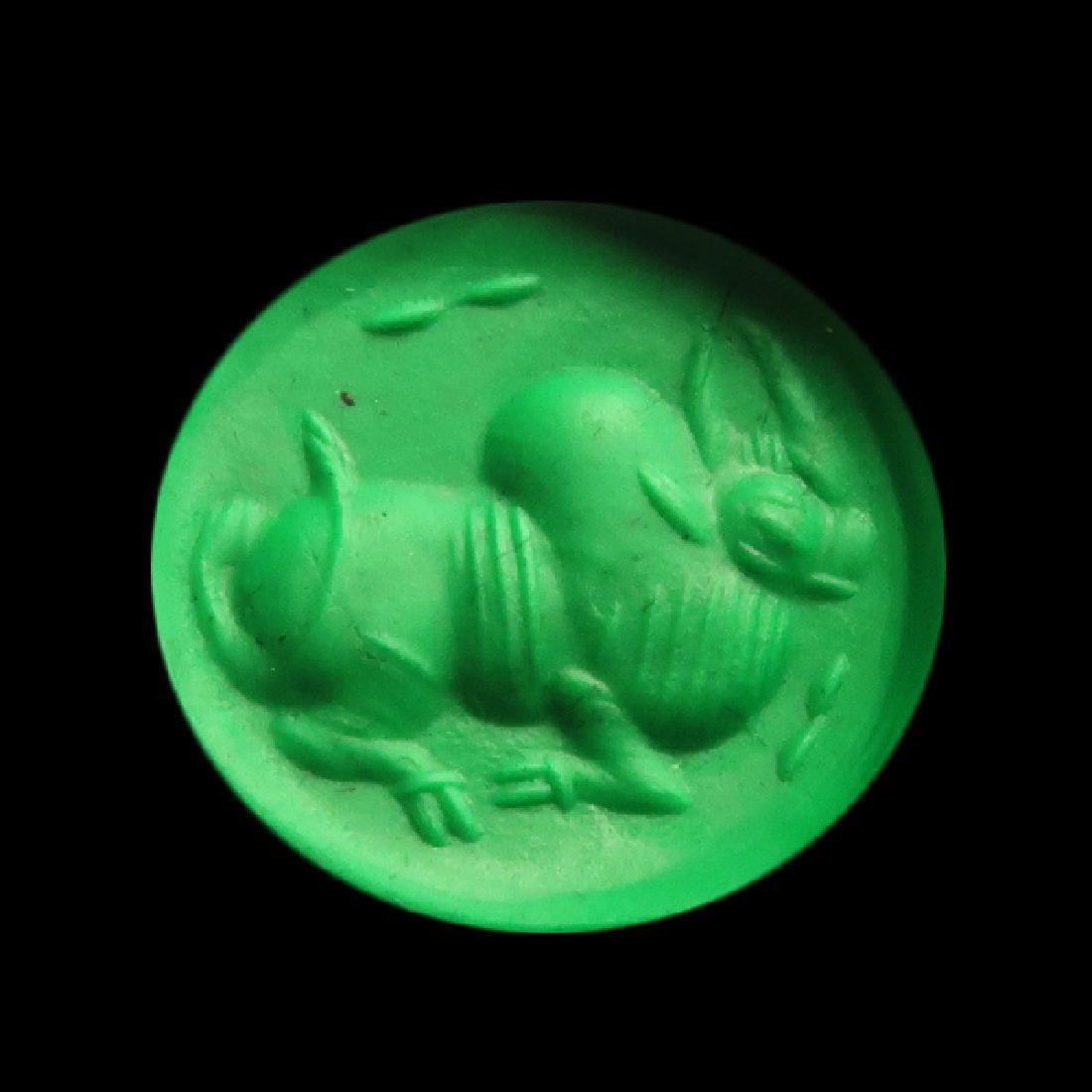 Sassanian Agate Seal, Zebu Bull, c. 200-250 A.D. - 2