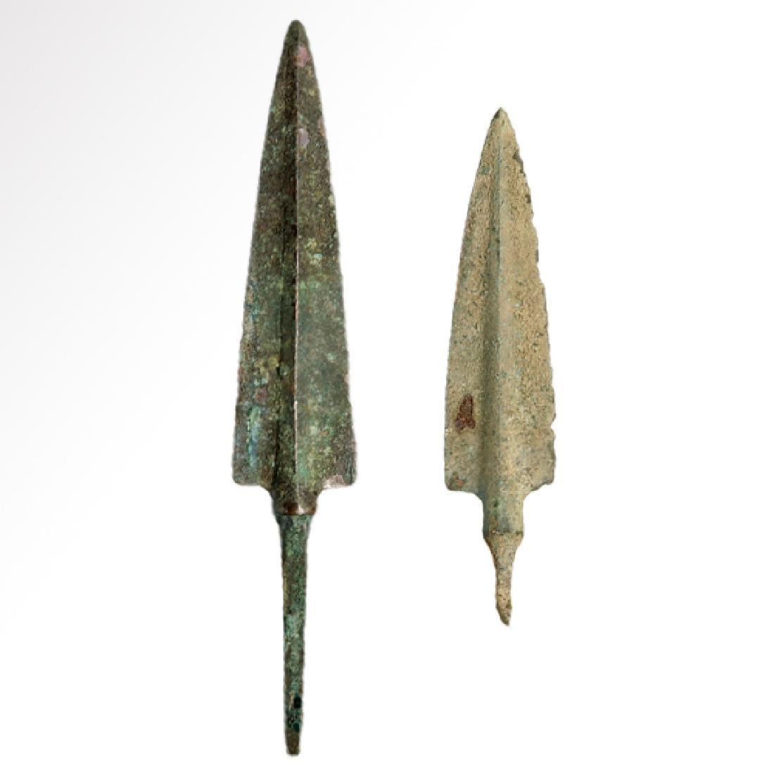 Two Bronze Spear-heads, Persia c. 1100-900 B.C.
